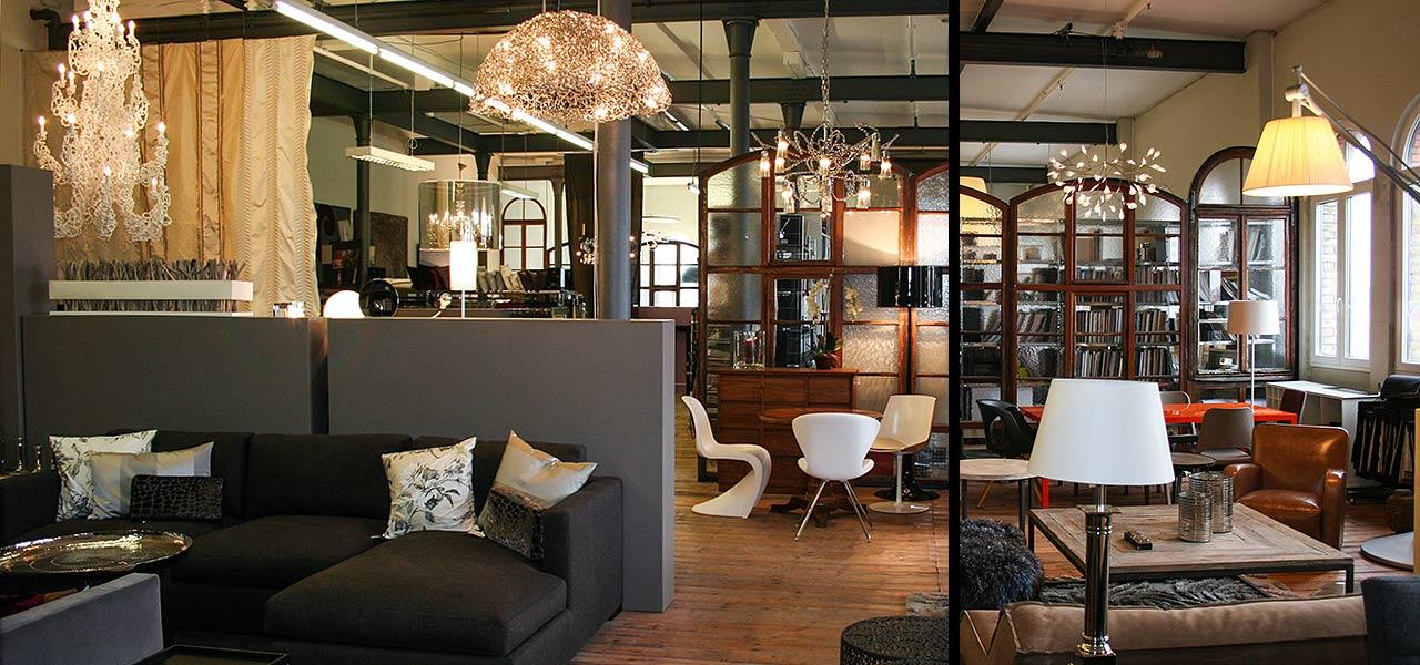 showroom yvs design im loft hafenpark mannheim yvs design. Black Bedroom Furniture Sets. Home Design Ideas